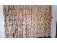 3 Pairs of Large Fully Lined Curtains