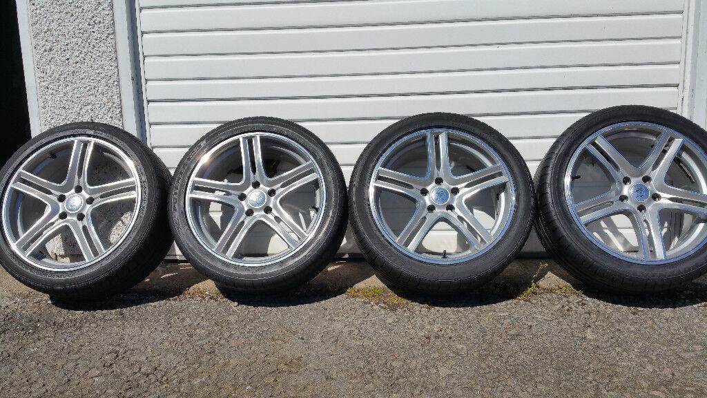 Audi DIAMOND 18 alloy wheels + 4 x tyres 245 40 18