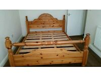 Pine bed free delivery