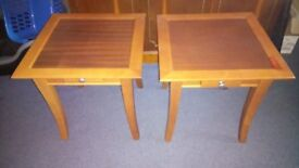 two small occastional side table with draws