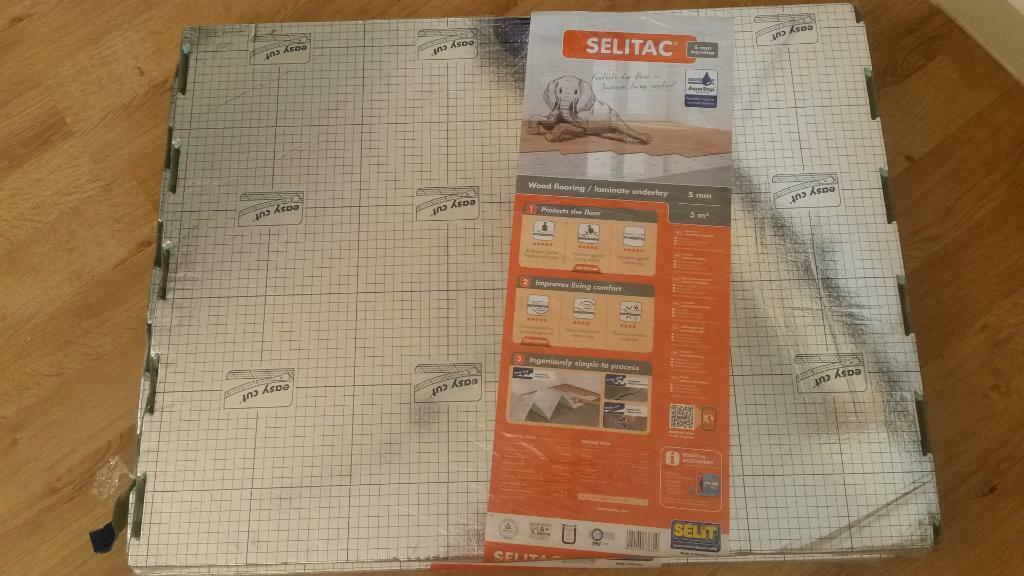 Selitac Wood Laminate Flooring Underlay 5mm X 2 Packs 5msq Each