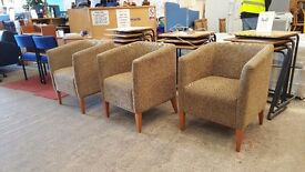 Morgan brown fabric covered chairs (priced individually)