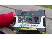 goal zero A plug-and-play, silent, fume-free generator