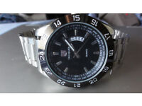Tag Heuer Mens Watch Date Stainless Steel