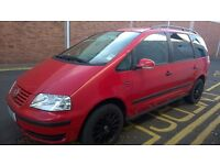 VW SharanTDI 130, red, low mileage,