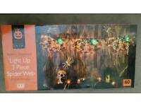 3 Light up Spider Webs 60 LED Lights BNIB
