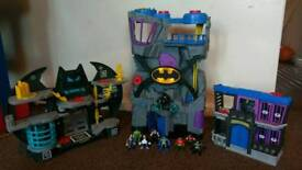 Fisher Price Batman Batcaves and Gotham City Jail