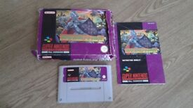 SUPER GHOULS AND GHOSTS SNES CARTRIDGE BOXED