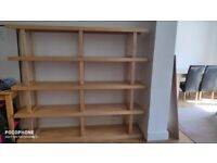 Large solid shelving unit, immaculate condition