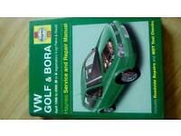 Haynes manual for vw golf & bora