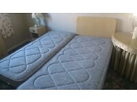 Single bed with pull out another single bed