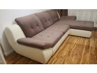 Delivery 1-10 days Mello Relaxation and comfort brand new corner Sofa Leather bed