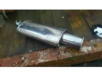 Universal stainless exhaust back box