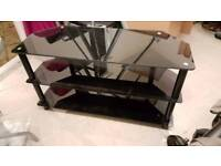 Tv glass stand cabinet