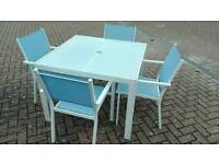 Garden furniture, table chairs parasol