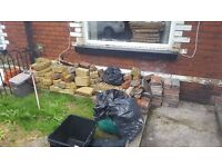 FREE - Hardcore, fireplace bricks etc - 9 King St, Pontypool. Free to collector
