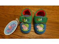 Boys slippers size 5
