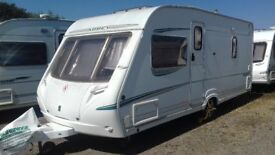 2005 ABBEY GTS 415. FIXED DOUBLE BED 4 BERTH. AIR AWNING. ALL ACCESSORIES FOR HOLS. LOVELY CONDITION