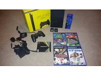 Sony PlayStation 2 Slim Black Console PAL + Memory Cards + 4 Games (PS2) (Boxed)