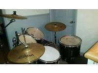 Mapex five piece drum kit