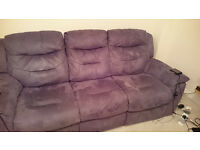 Two 3 Seater Reclining Sofas
