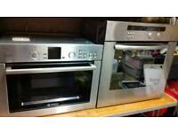 Bosch built in microwave and built in matching oven