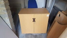 5 x 2 door storage cabinet in light maple with silver handles