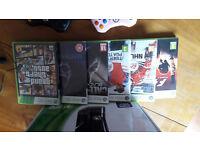 Xbox 360 Slim 250gb plus games