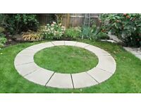 Patio Circle Unused/new patio paving slabs - Bradstone old town - grey green- sizes below