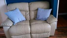 2+3 Seater Leather Recliners.