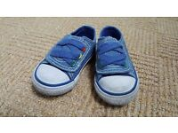 Mothercare baby shoes, denim look, size 2