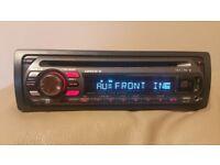 CAR HEAD UNIT SONY XPLOD MP3 CD PLAYER WITH USB AUX 4x 50 AMPLIFIER AMP STEREO RADIO