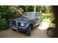 Mitsubishi Shogun 2.8 intercooler turbo great running brilliant car SPARES OR REPAIRS