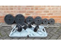 DOMYO WEIGHTS SET WITH BARBELL & DUMBBELLS