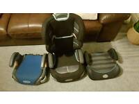Graco high back car seat and two booster seats