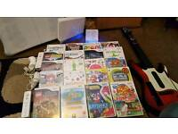 Nintendo wii with fit board and more