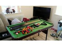 Pool table 6x4 foot full size omega table foldinh pool table
