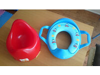 Mothercare potty and Thomas toilet seat.
