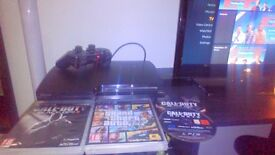 PlayStation 3 120g good condition boxed with GTA V and Black ops 2 and Black ops 1 and call duty
