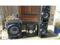 Panasonic hifi stereo with subwoofer