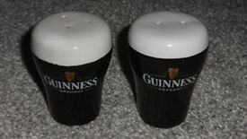 GUINNESS CERAMIC SALT & PEPPER POTS - COLLECTABLE!