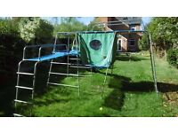 Climbing frame. TP challenger with slide and tent