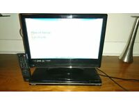 Matsui 19 HD ready digital lcd TV, Toshiba dvd player