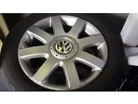 £120 VW GOLF MK5 ALLOYS WITH TYRES