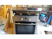 Electric oven gas hob and extractor