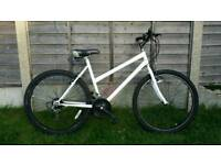 Ladies white mountain bike