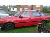 Classic Vauxhall Cavalier 2lt Injection, fading red but 24yrs young