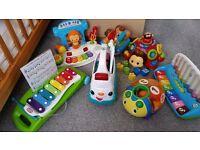 Bundle of toddler toys, all branded V-tech, leapfrog, little tikes & bright stars
