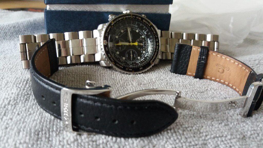 Seiko Pilots Flight Alarm Chronograph Flightmaster Calibre 7t62