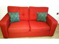 Sofa bed red - only 4 months old pet and smoke free home